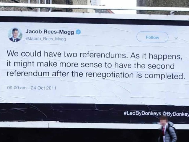 Brexit quotes back to haunt politicians - on giant billboards