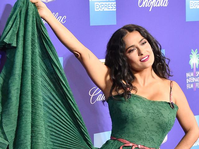 Salma Hayek Fashion Week