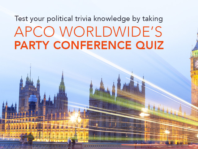 Take Apco's Party Conference Quiz & Win A Magnum of Champagne!