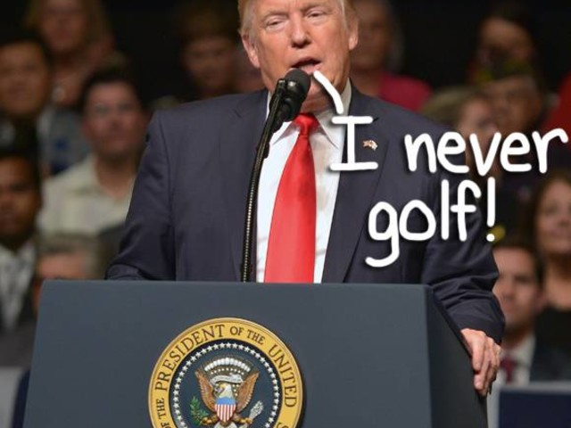 Donald Trump Is Taking A SHORT Break From Being President To Golf With Tiger Woods, OK?!
