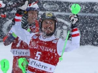 Marcel Hirscher comes from behind to win World Cup slalom