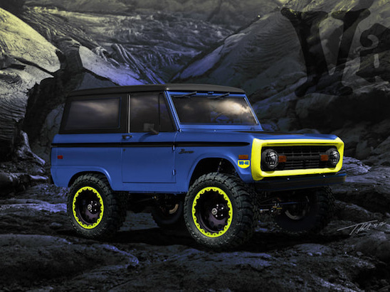 Custom 1966 Ford Bronco is Boosted and Oh So Blue
