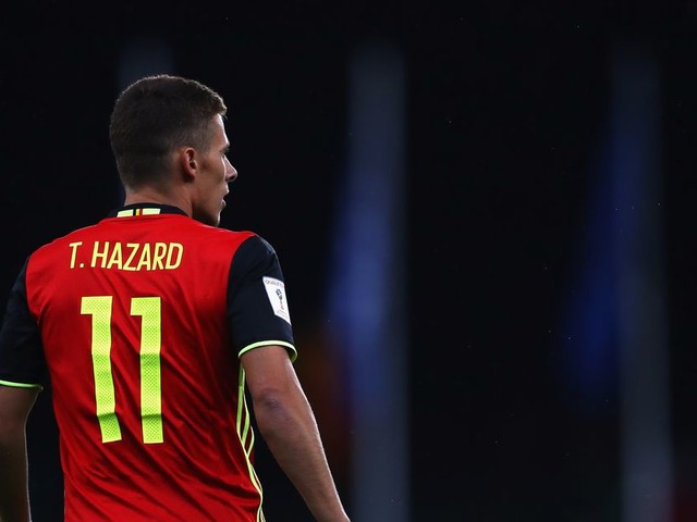 Thorgan Hazard remains happy at Gladbach, unconcerned by any future Chelsea prospects