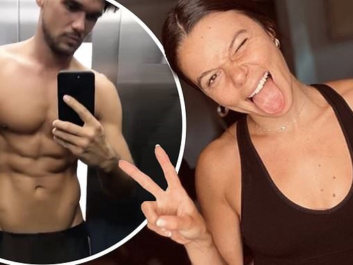 Faye Brookes shows off toned physique in plunging sports bra