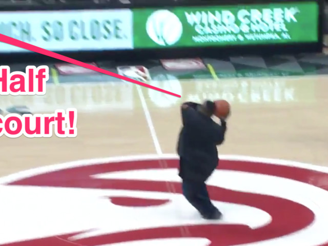 NBA fan won $10,000 with a horrendous-looking half-court shot that actually worked