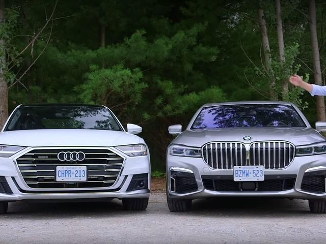 Video: BMW 7 Series LCI vs Audi A8 Comparison Review