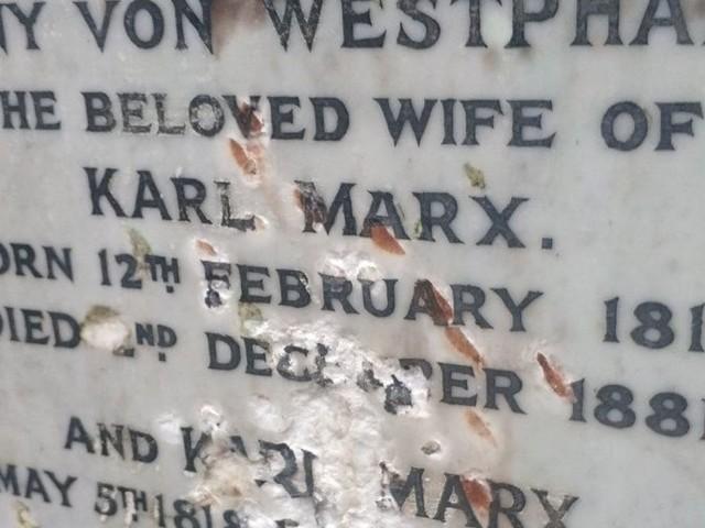 Karl Marx's grave damaged in 'deliberate attack'