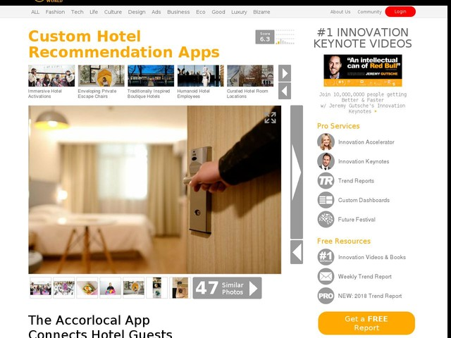 Custom Hotel Recommendation Apps - The Accorlocal App Connects Hotel Guests with Local Services (TrendHunter.com)