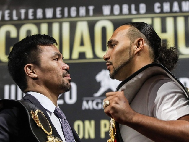 Manny Pacquiao's next opponent Keith Thurman has pushed back against Deontay Wilder's controversial comments, saying boxing is 'not about killing people'