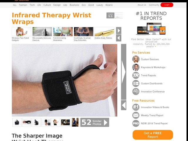 Infrared Therapy Wrist Wraps - The Sharper Image Wrist Heat Therapy Wrap Has a Cordless Design (TrendHunter.com)