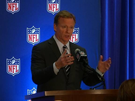 'We want our players to stand' for anthem: Goodell