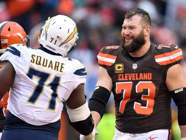 Joe Thomas somehow named every starting quarterback he has protected during his Cleveland Browns career