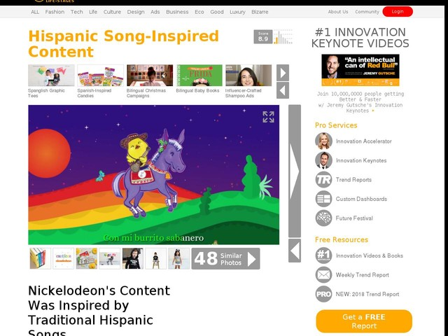 Hispanic Song-Inspired Content - Nickelodeon's Content Was Inspired by Traditional Hispanic Songs (TrendHunter.com)