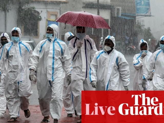 Coronavirus live news: record new cases in India as Australian state of Victoria closes border