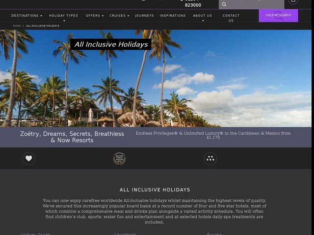 All inclusive holidays for Luxury holidays all inclusive