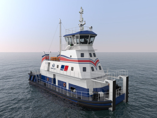 Robert Allan and MTU partner to develop first LNG-fueled shallow-draft pushboat design