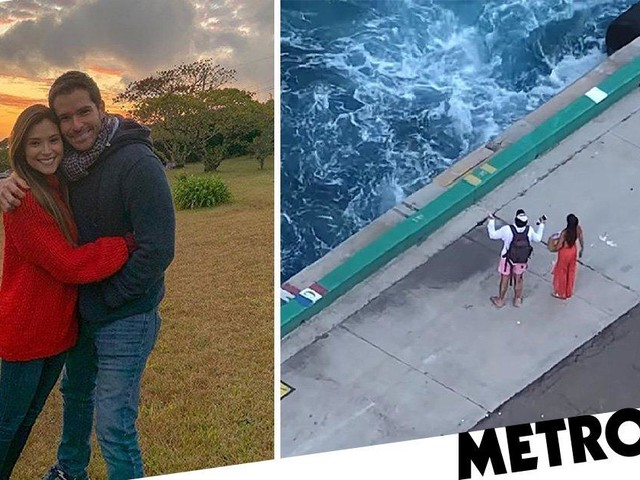 Stranded cruise ship chasers are TV star and her new husband