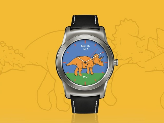 You can finally add dinosaurs to your Android Wear watch face