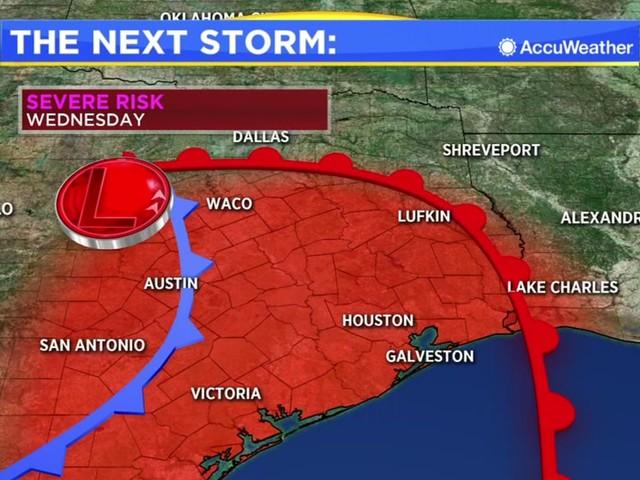 Houston Weather: Nice Monday, storms return Wednesday
