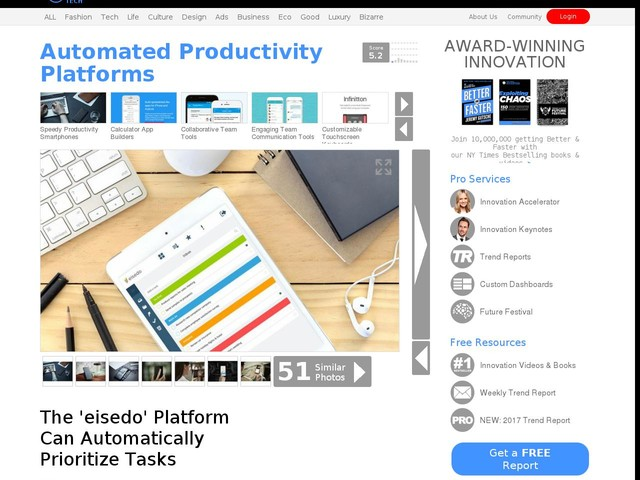 Automated Productivity Platforms - The 'eisedo' Platform Can Automatically Prioritize Tasks (TrendHunter.com)