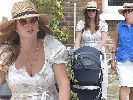 New mum Millie Mackintosh is a vision on London stroll