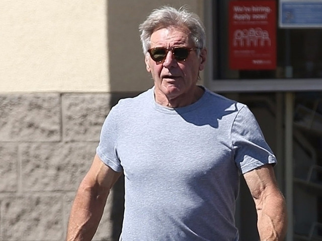 Harrison Ford Shows Some Muscle While Running Errands
