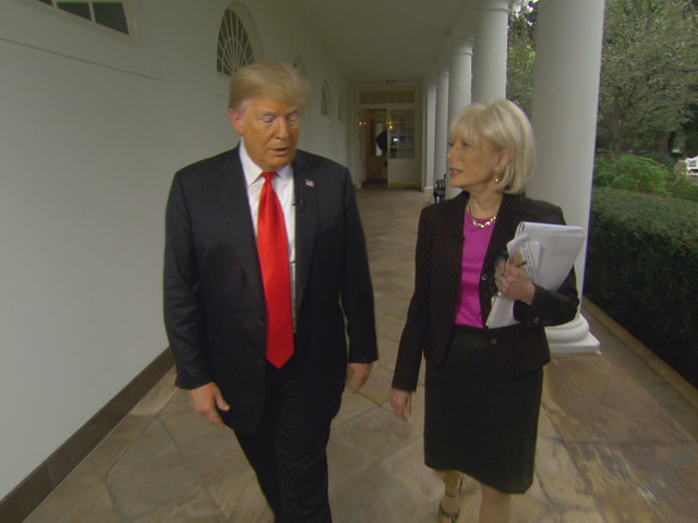 Trump Cuts Short a '60 Minutes' Interview, Then Teases Lesley Stahl