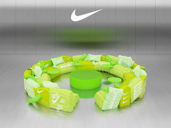 Neon Green Virtual Sofas - Crosby Studios Launched an Nike-Branded Augmented Reality Sofa (TrendHunter.com)