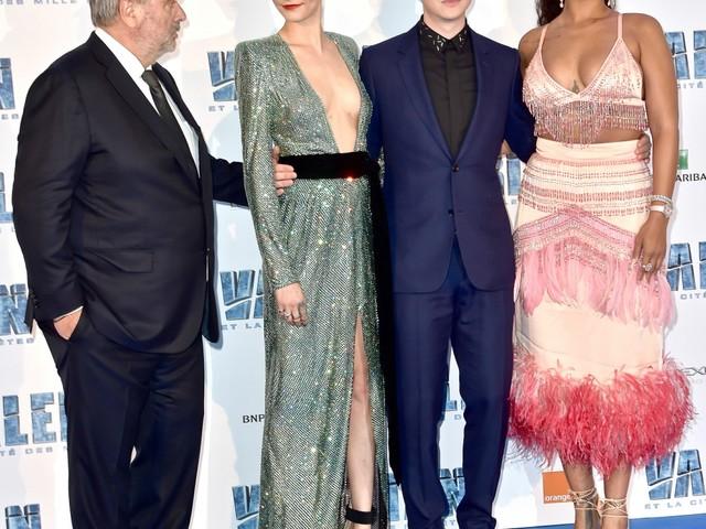 Rihanna wore Prada at Paris 'Valerian' premiere: feathered showgirl costume?