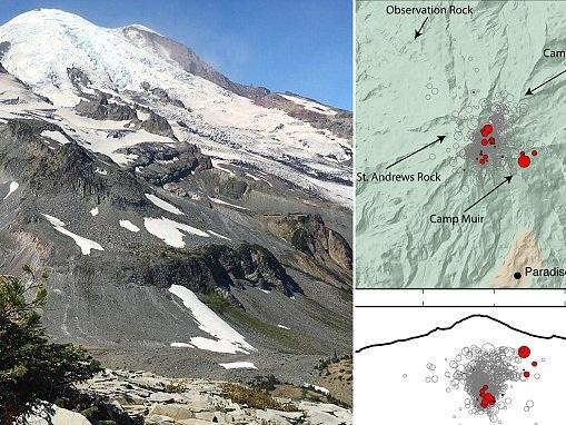 Mount Rainier fears as 'swarm' of 20 mini quakes hit