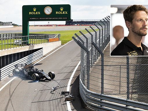 Romain Grosjean suffers pitlane crash as Pierre Gasly goes fastest in British Grand Prix practice