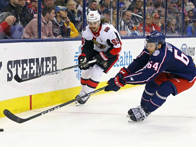 Senators extend losing streak to five games with loss to Blue Jackets