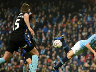 Man City score seven in FA Cup stroll, Oldham knock out Fulham