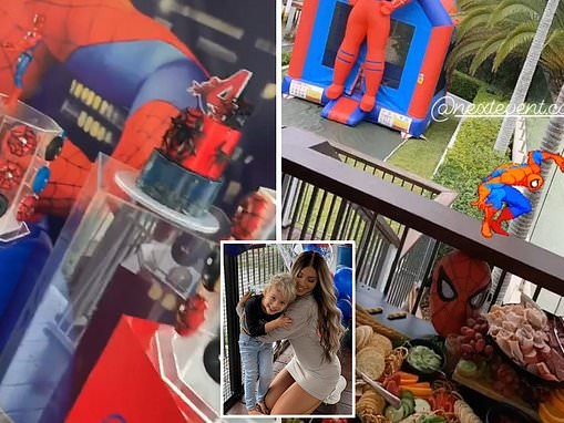 Tammy Hembrow throws a lavish Spider-Man birthday party for son Wolf as he turns four