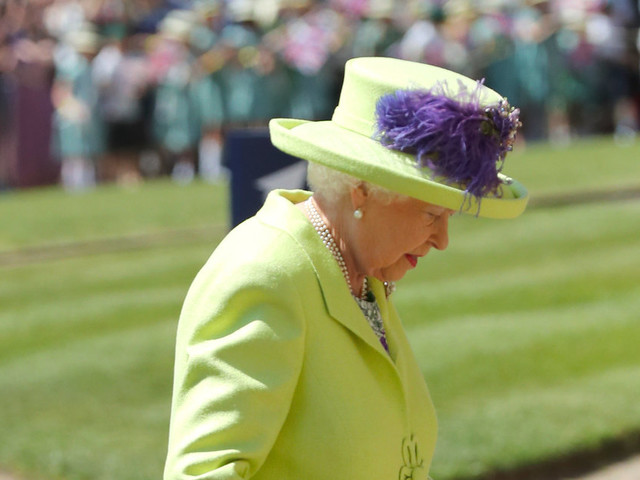 The Queen Out-Queened Herself By Colour Blocking In A Lime Royal Wedding Outfit