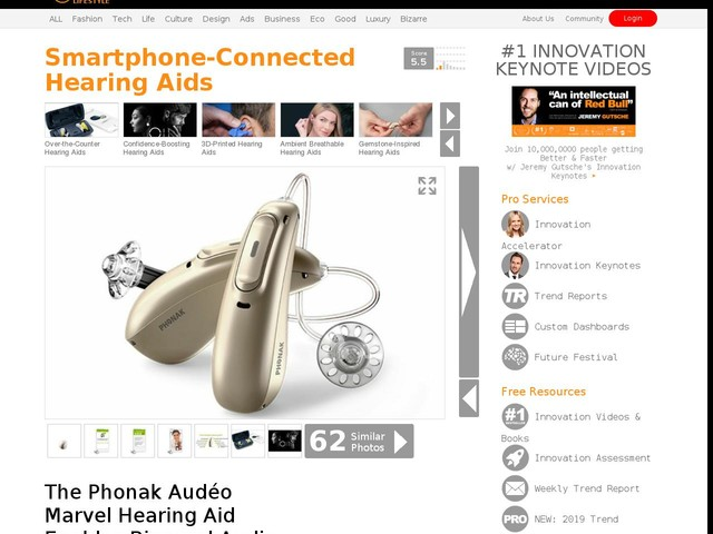 Smartphone-Connected Hearing Aids - The Phonak Audéo Marvel Hearing Aid Enables Binaural Audio (TrendHunter.com)
