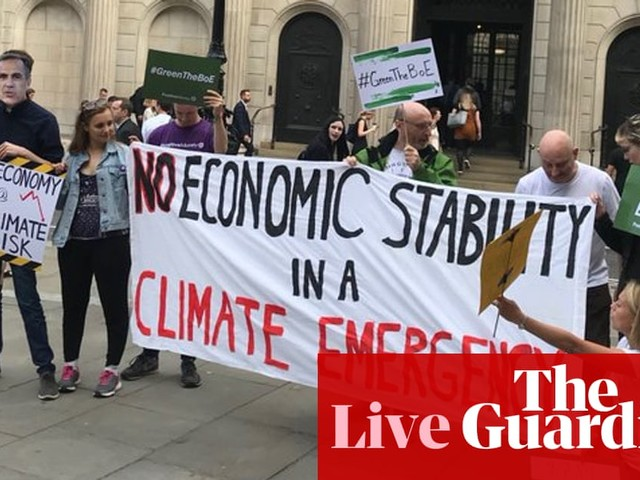Climate emergency protests ahead of Bank of England financial stability report - business live