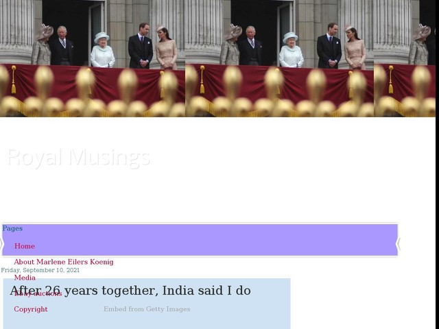After 26 years together, India said I do
