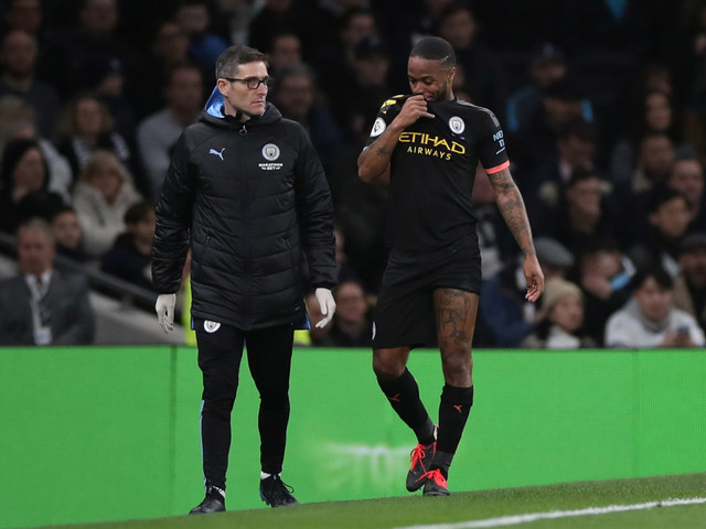 Raheem Sterling in race to be fit for Man City's Champions League clash with Real Madrid after hamstring injury