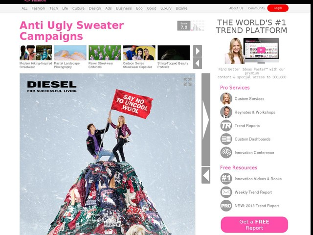 Anti Ugly Sweater Campaigns - Diesel's 'Say No To Uncool Wool' Campaign Encourages Other Options (TrendHunter.com)