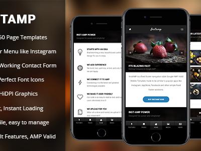 AMP Insta | Mobile Google AMP Template (Mobile)