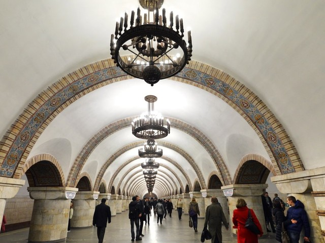 Take a look inside Kiev's astonishing Soviet-era metro system, home to the deepest subway station in the entire world