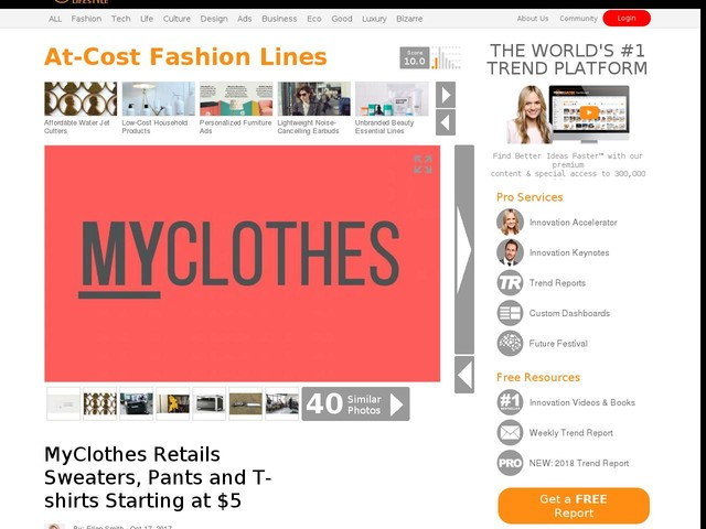 At-Cost Fashion Lines - MyClothes Retails Sweaters, Pants and T-shirts Starting at $5 (TrendHunter.com)