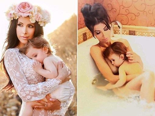 Ildiko Ferenczi shares breastfeeding photos online
