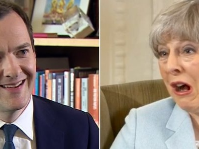 "George Osborne meets ""dead woman walking"" Theresa May"