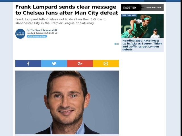 Frank Lampard sends clear message to Chelsea fans after Man City defeat
