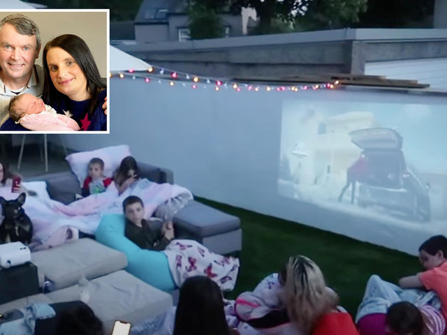 Mum-of-22 Sue Radford shows off the epic garden movie night she created for her huge brood complete with snack station