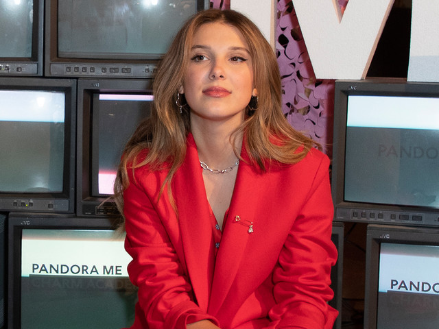 Millie Bobby Brown Paints the Town Red for Pandora Launch!