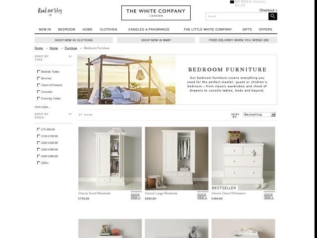 Bedroom Furniture | Furniture | Home | The White Company UK