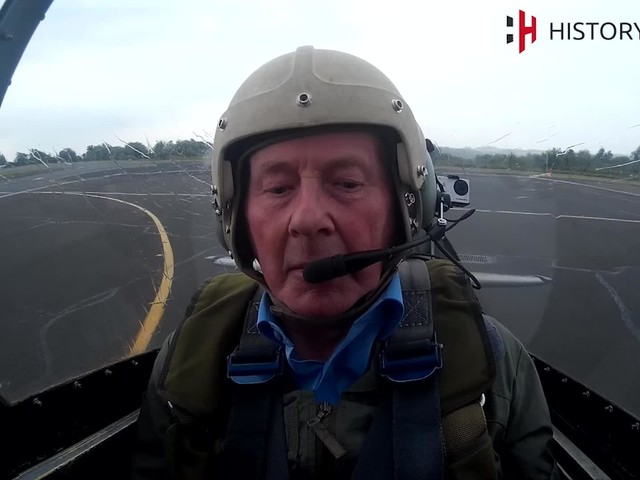 Feared Nazi World War Two pilot takes to the skies in a Spitfire